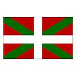 Basque Flag Sticker (Rectangle 10 pk)
