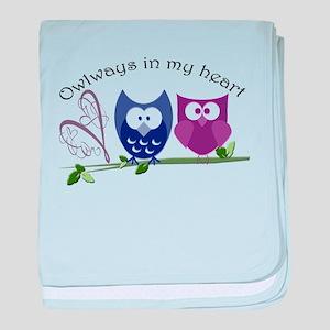 Owlways in my heart baby blanket
