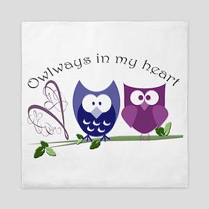 Owlways in my heart Queen Duvet