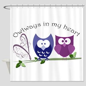 Owlways in my heart Shower Curtain