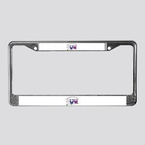 Owlways in my heart License Plate Frame