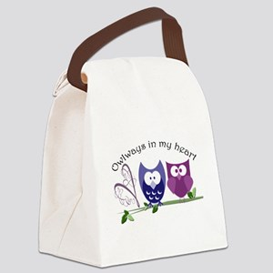 Owlways in my heart Canvas Lunch Bag