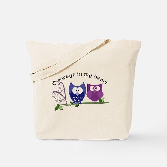 Owlways in my heart Tote Bag