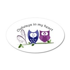 Owlways in my heart Wall Decal