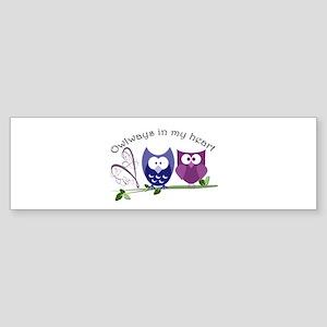 Owlways in my heart Sticker (Bumper)