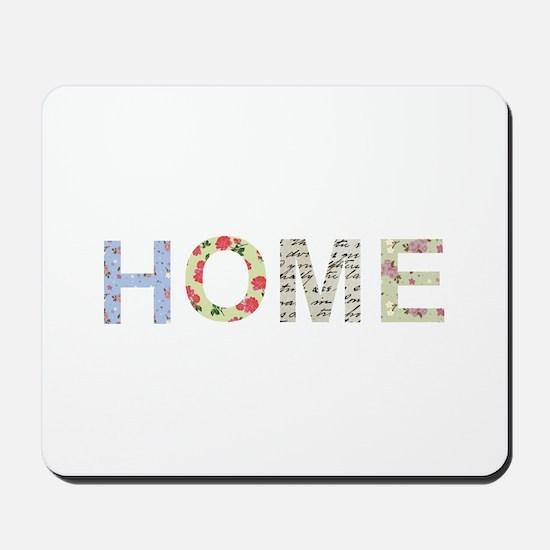 Vintage Floral Home Mousepad