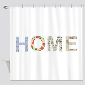 Vintage Floral Home Shower Curtain
