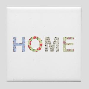 Vintage Floral Home Tile Coaster