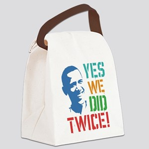 Yes We Did Twice! Canvas Lunch Bag
