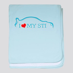 I love my STI - Baby Blue baby blanket