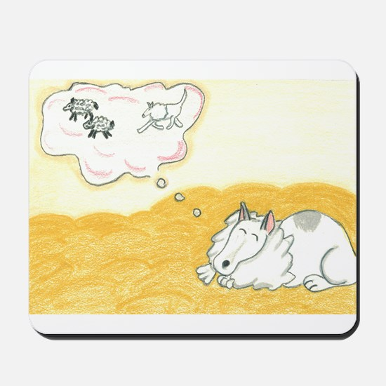 Collie dreaming of sheep Mousepad