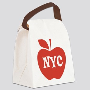 New York CIty Big Red Apple Canvas Lunch Bag