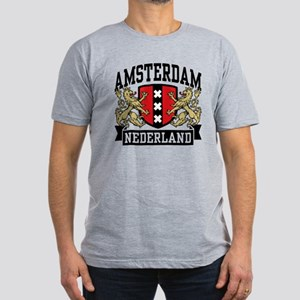 Amsterdam Nederland Men's Fitted T-Shirt (dark)