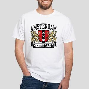 Amsterdam Nederland White T-Shirt
