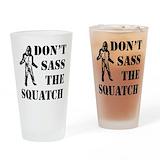 Bigfoot sasquatch Drinking Glass