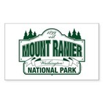 Mount Ranier National Pa Sticker (Rectangle 10 pk)