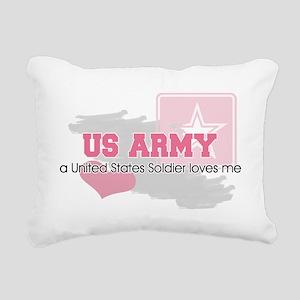 US Soldier loves me Rectangular Canvas Pillow