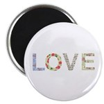 Shabby Chic Love Typography Magnet