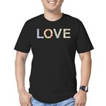 Shabby Chic Love Typography Men's Fitted T-Shirt (