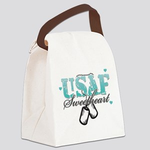 usaf teal Canvas Lunch Bag