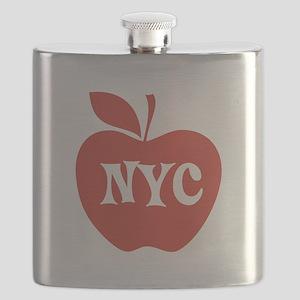 New York CIty Big Red Apple Flask
