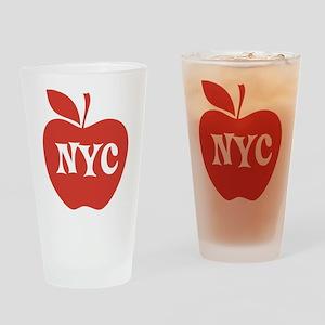 New York CIty Big Red Apple Drinking Glass