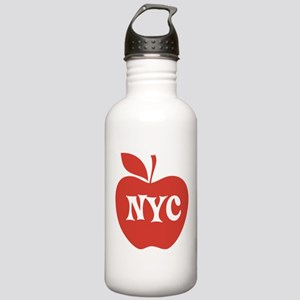 New York CIty Big Red Apple Stainless Water Bottle