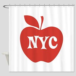 New York CIty Big Red Apple Shower Curtain
