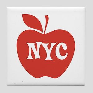 New York CIty Big Red Apple Tile Coaster