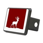 Deer in the snow Rectangular Hitch Cover