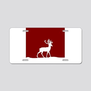 Deer in the snow Aluminum License Plate