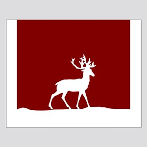 Deer in the snow Small Poster