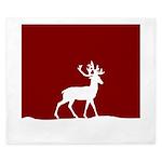 Deer in the snow King Duvet