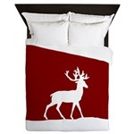 Deer in the snow Queen Duvet
