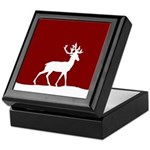 Deer in the snow Keepsake Box