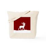 Deer in the snow Tote Bag