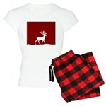 Deer in the snow Women's Light Pajamas