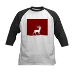 Deer in the snow Kids Baseball Jersey