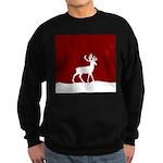 Deer in the snow Sweatshirt (dark)
