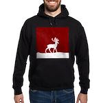 Deer in the snow Hoodie (dark)