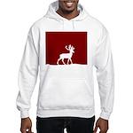 Deer in the snow Hooded Sweatshirt