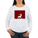 Deer in the snow Women's Long Sleeve T-Shirt