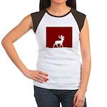 Deer in the snow Women's Cap Sleeve T-Shirt