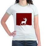 Deer in the snow Jr. Ringer T-Shirt