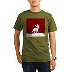 Deer in the snow Organic Men's T-Shirt (dark)