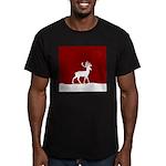 Deer in the snow Men's Fitted T-Shirt (dark)