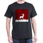 Deer in the snow Dark T-Shirt