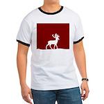 Deer in the snow Ringer T