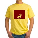 Deer in the snow Yellow T-Shirt