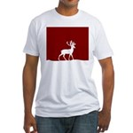 Deer in the snow Fitted T-Shirt